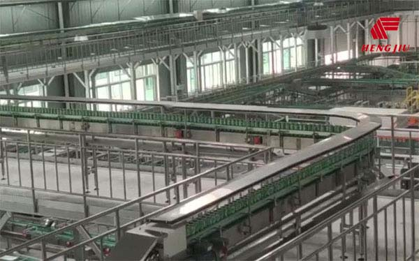 Plastic Chains & Belts for the 60000BPH beer production line